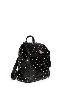 ALEXANDER MCQUEEN'Padlock' stud leather backpack