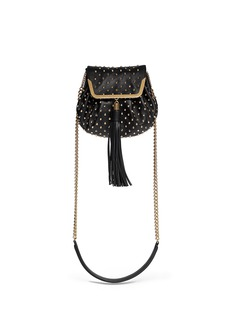 ALEXANDER MCQUEEN 'Heroine' stud flap leather bucket bag