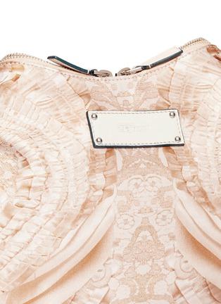 Detail View - Click To Enlarge - Alexander McQueen - 'De-Manta' lace print satin clutch