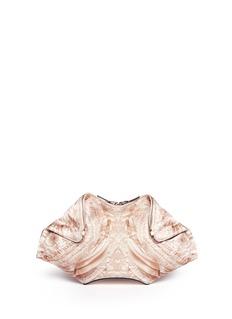 ALEXANDER MCQUEEN'De-Manta' lace print satin clutch