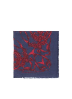ALEXANDER MCQUEEN Bird and thorn print modal-silk scarf