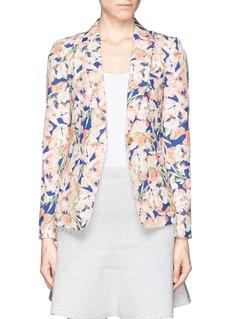 J. CREWCollection silk blazer in iris floral