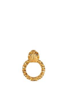 ALEXANDER MCQUEENCrystal skull ring