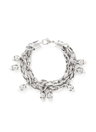 Main View - Click To Enlarge - Alexander McQueen - Crystal skull chain bracelet