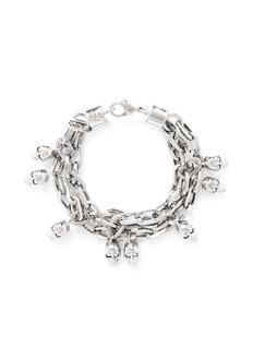ALEXANDER MCQUEENCrystal skull chain bracelet