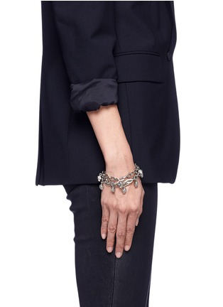 Figure View - Click To Enlarge - Alexander McQueen - Crystal skull chain bracelet