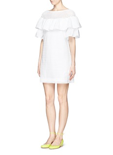 J. CREW Collection mixed eyelet dress