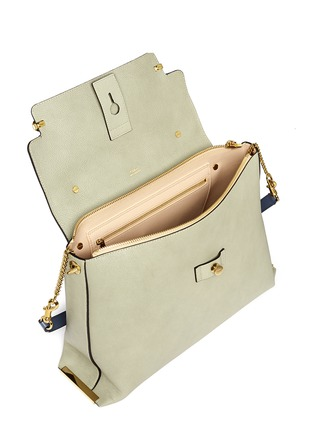 Detail View - Click To Enlarge - Chloé - 'Clare' large leather shoulder bag