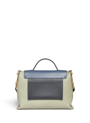 Back View - Click To Enlarge - Chloé - 'Clare' large leather shoulder bag