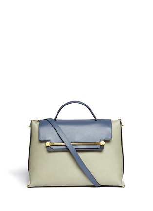Main View - Click To Enlarge - Chloé - 'Clare' large leather shoulder bag
