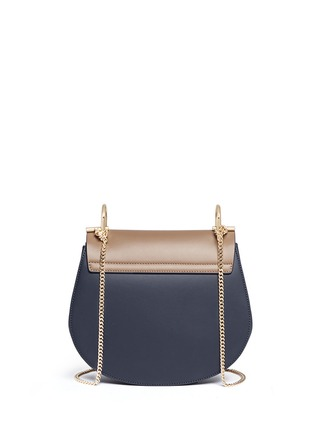 Back View - Click To Enlarge - Chloé - 'Drew' leather flap suede shoulder bag