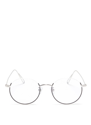 Main View - Click To Enlarge - Stephane + Christian - 'Milli 02' half frame metal optical glasses
