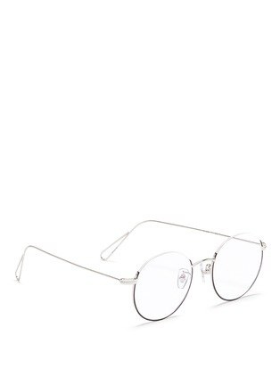 Figure View - Click To Enlarge - Stephane + Christian - 'Milli 02' half frame metal optical glasses