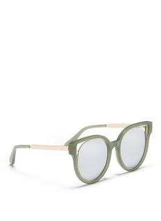 Stephane + Christian'Dali' inset metal rim acetate mirror sunglasses