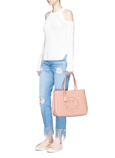 Anya Hindmarch'Smiley Ebury Shopper' leather tote