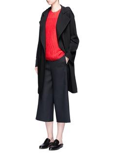 Ms MINFrayed silk crépon blouse