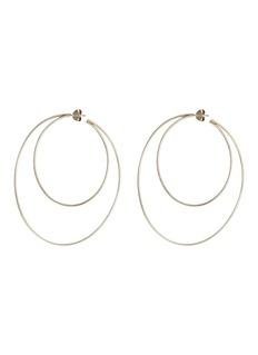 Lynn Ban'Crescent Hoops' sterling silver earrings