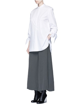 Figure View - Click To Enlarge - Tibi - Tie cuff poplin shirt tunic