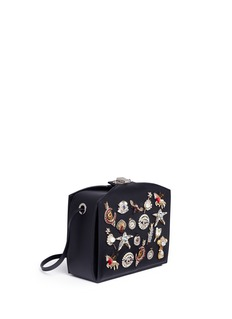 Alexander McQueen 'The Box Bag' in leather with surreal charms