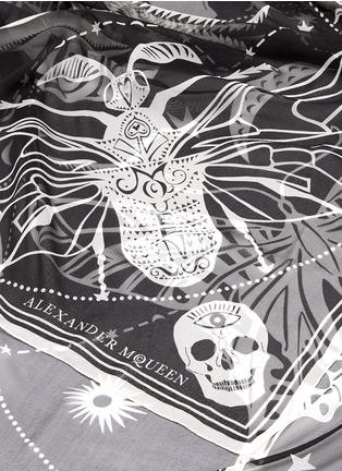 Detail View - Click To Enlarge - Alexander McQueen - Skull zodiac stripe silk chiffon scarf