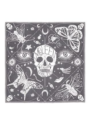 Main View - Click To Enlarge - Alexander McQueen - Skull zodiac stripe silk chiffon scarf
