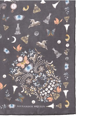 Detail View - Click To Enlarge - Alexander McQueen - 'Night Obsession' skull print silk chiffon scarf