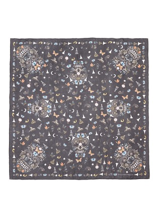 Main View - Click To Enlarge - Alexander McQueen - 'Night Obsession' skull print silk chiffon scarf