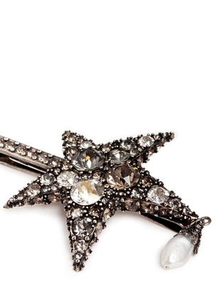 Detail View - Click To Enlarge - Alexander McQueen - 'Surreal Obsession' Swarovski crystal star hair clip