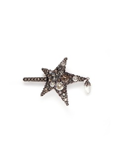 Alexander McQueen 'Surreal Obsession' Swarovski crystal star hair clip