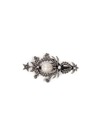 Main View - Click To Enlarge - Alexander McQueen - Swarovski crystal pearl drop hair clip