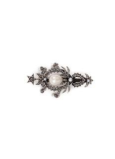 Alexander McQueenSwarovski crystal pearl drop hair clip