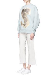 Acne Studios'Karvel Lurex S' embroidered patch sweatshirt