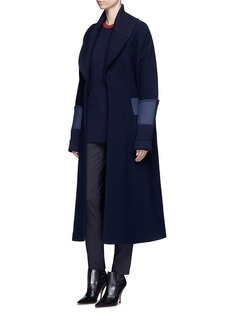 Victoria Beckham Belted wool hopsack cape coat