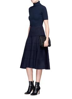 Victoria BeckhamHerringbone cashmere flare midi skirt