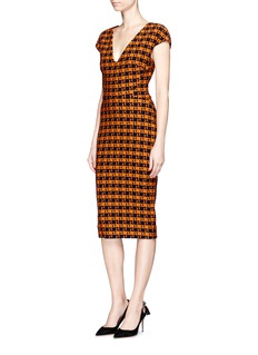 Victoria Beckham Check pattern wool blend dress