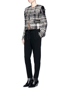 Alexander Wang  Chain trim cupro jogging pants