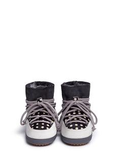 INUIKII''Dots' print sheepskin shearling kids boots