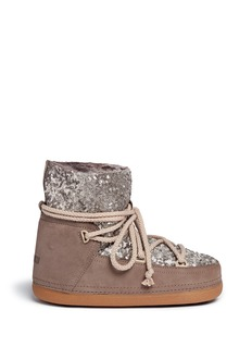 INUIKII Sequin sheepskin shearling boots
