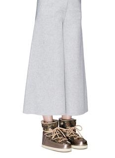 INUIKII'Camouflage' print sheepskin shearling boots