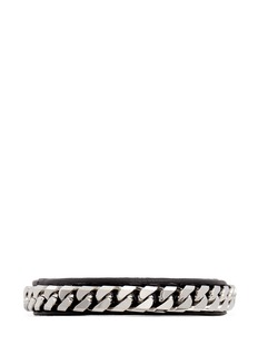 VITA FEDE'Monaco Single Wrap' silver chain leather bracelet