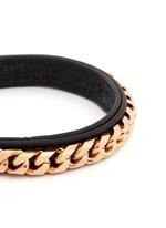 'Monaco Single Wrap' rose gold chain leather bracelet