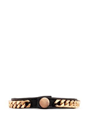 VITA FEDE-'Monaco Single Wrap' rose gold chain leather bracelet