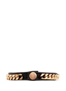 VITA FEDE'Monaco Single Wrap' rose gold chain leather bracelet