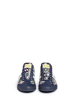 Front View - Click To Enlarge - Onitsuka Tiger - 'Mexico 66 Paraty' floral print laceless sneakers