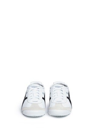 Front View - Click To Enlarge - Onitsuka Tiger - 'Mexico 66' stripe leather sneakers