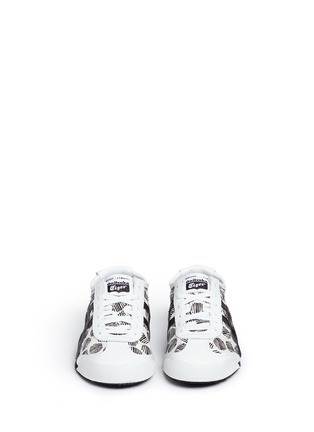 Front View - Click To Enlarge - Onitsuka Tiger - 'Mexico 66' polka dot print twill sneakers