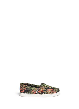 Main View - Click To Enlarge -  - Tiny Classic palm print canvas toddler slip-ons