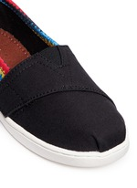 Tiny Classic raffia print canvas toddler slip-ons