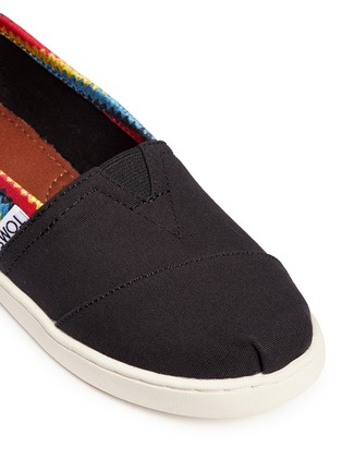 Detail View - Click To Enlarge -  - Youth Classic raffia print canvas kids slip-ons