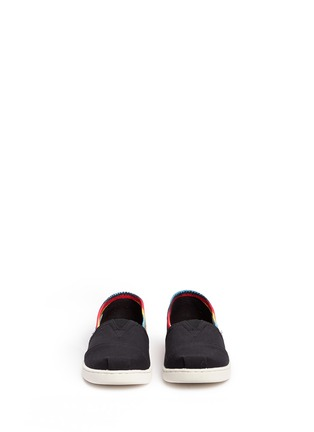 Figure View - Click To Enlarge -  - Youth Classic raffia print canvas kids slip-ons